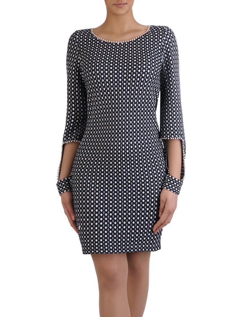 91b36fdd73 Sukienka z oryginalnie wykończonymi rękawami 15327