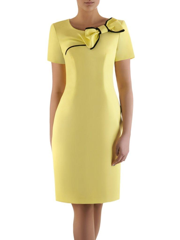 05a1c69918a Sukienka z ozdobną kokardą Żaklina III, elegancka kreacja koktajlowa ...
