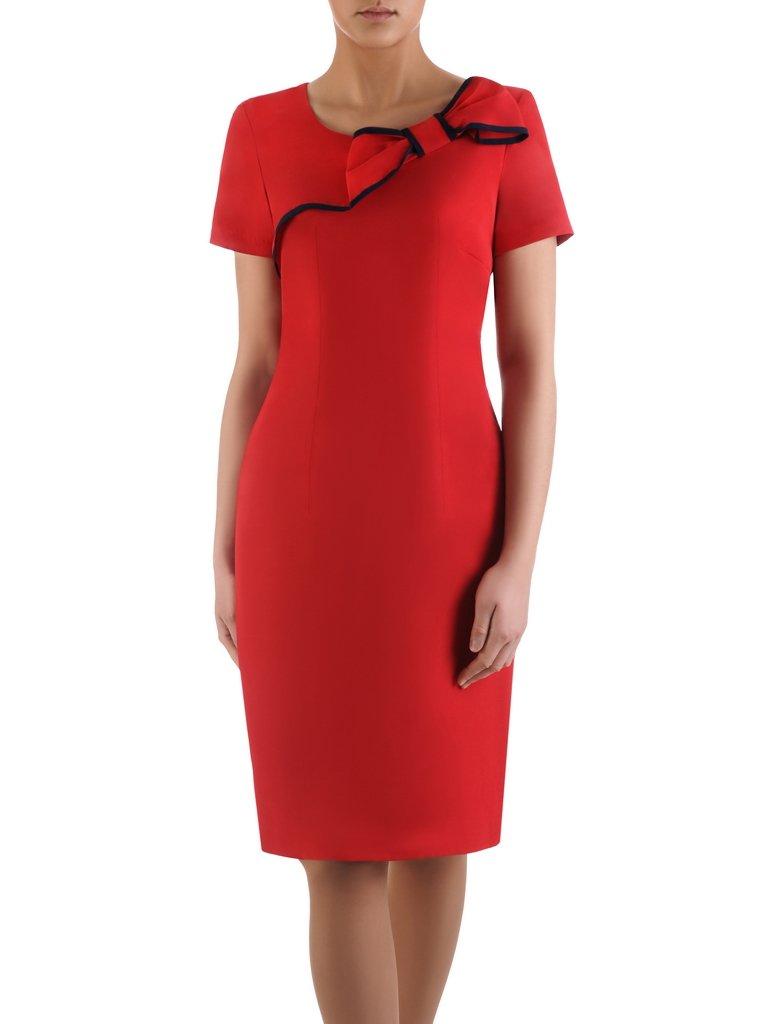 c09e684bef718d Sukienka z ozdobną kokardą Żaklina IV, elegancka kreacja koktajlowa ...