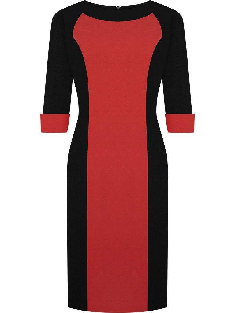 bf4c1c5cd5 pol pl Sukienka-z-ozdobnymi-mankietami-Zaneta-II-modna-kreacja-do-pracy-1617 4.jpg