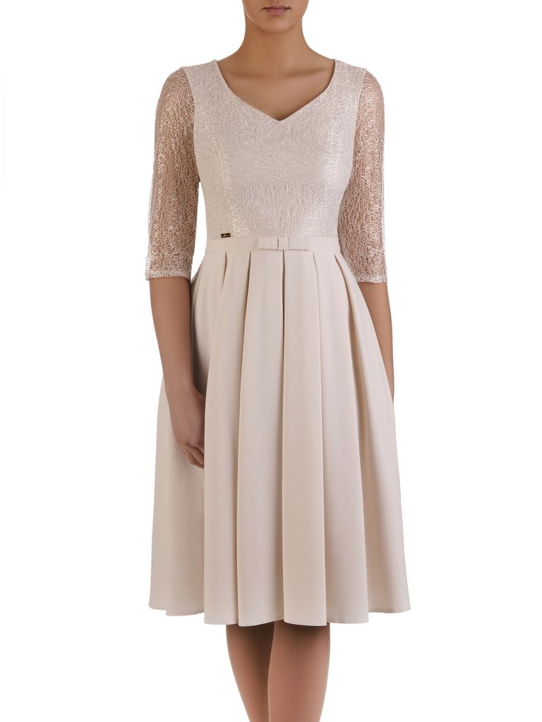 5827cd1bd0 Sukienka z ozdobnymi plisami 14623