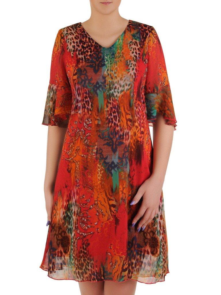 aaddbe0d Sukienka z szyfonu, luźna kreacja na wiosnę, lato 20500.
