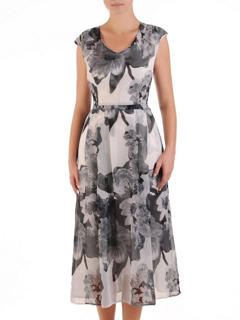 774f62cccb7d02 Sukienka z szyfonu, zwiewna kreacja w kwiaty 21591. | Sklep online ...