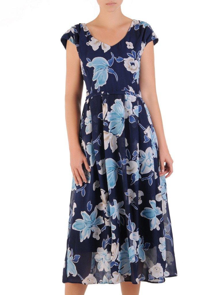 66757bbe Sukienka z szyfonu, zwiewna kreacja w kwiaty 21593. | Sklep online ...