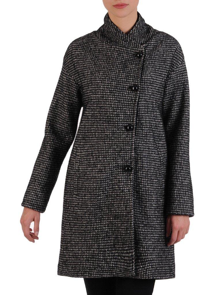0b31a378eb Wełniany płaszcz z czarnym kołnierzem Katarzyna.