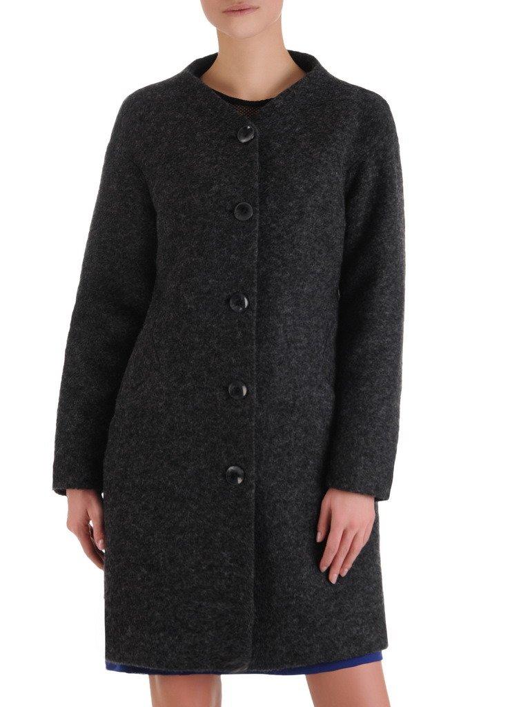 Wełniany płaszcz z odpinanym kołnierzem Bianka V.
