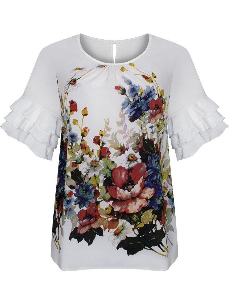 092b93bd Wiosenna bluzka w modnych, żywych kolorach 15774.