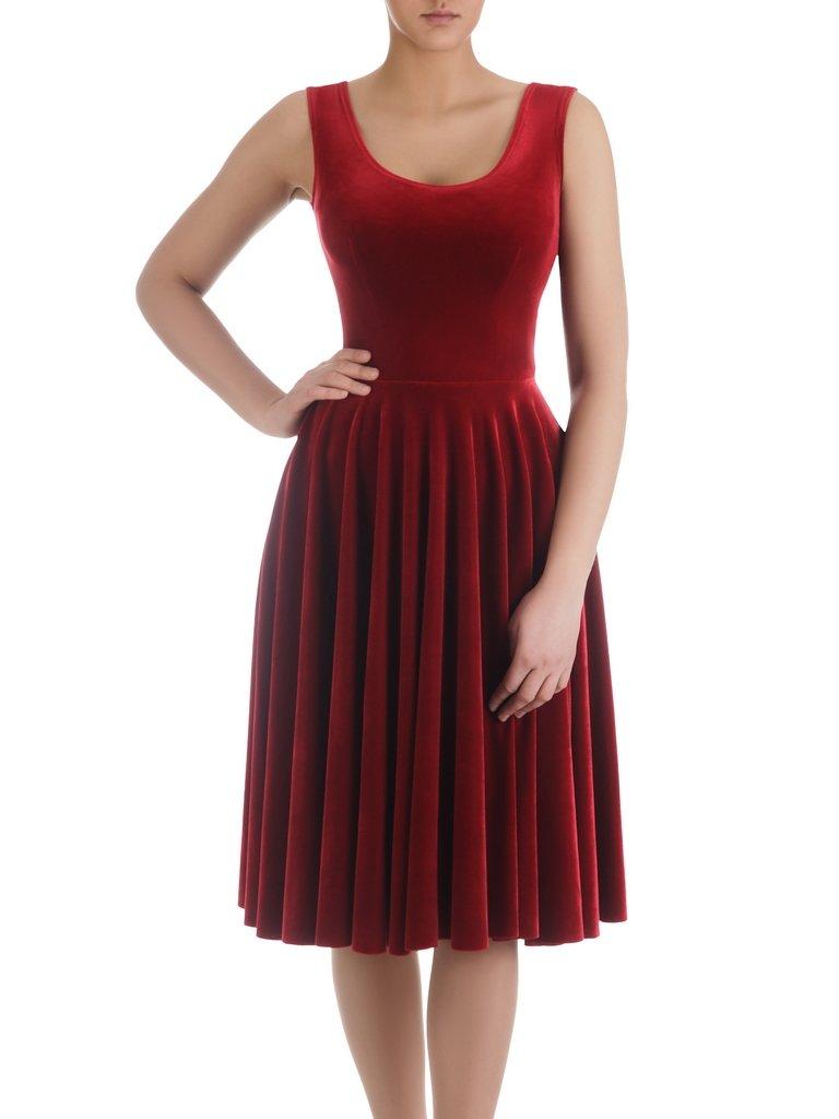 efd4f63d67c2 Wyszczuplająca sukienka z aksamitu 14877