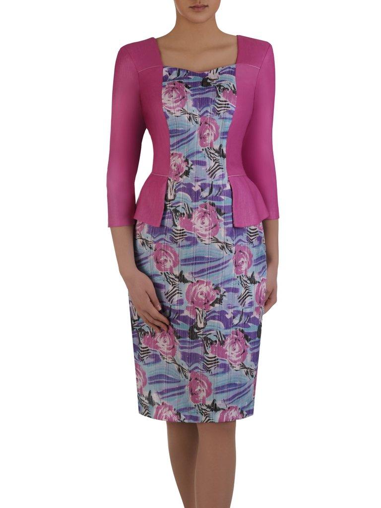 bb41408de0 Wyszczuplająca sukienka z imitacją żakietu 14994