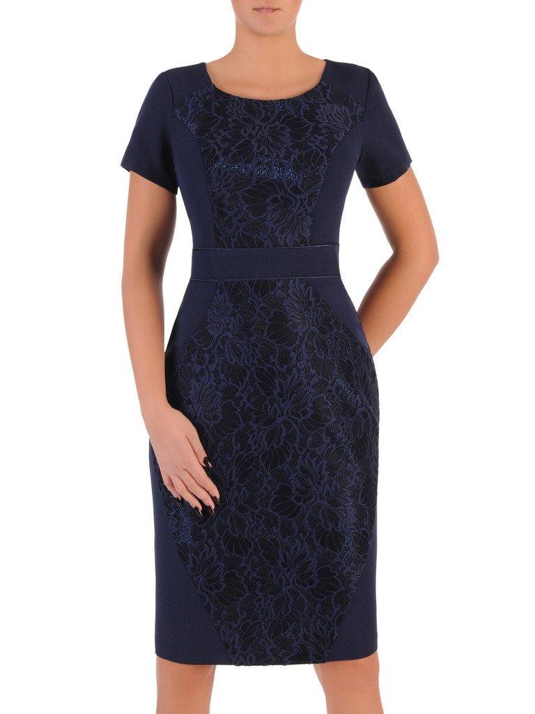5953aaca38 Wyszczuplająca sukienka z koronką 18272