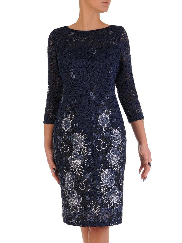 9c425adf7e Wyszczuplająca sukienka z wzorzystej koronki 18240